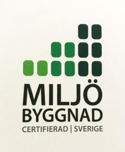 Miljöbyggnad certifierad