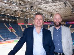 Andreas Fragner, fastighetschef och Mats Viker, VD.