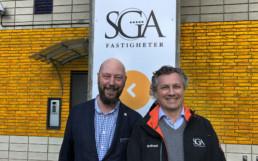 VD Mats Viker och fastighetschef Andreas Fragner, SGA Fastigheter Foto: Anette Almlöf